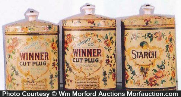 Winner Cut Plug Tobacco Cans