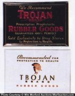 Trojan Rubber Goods Signs