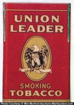 Union Leader Tobacco Sign
