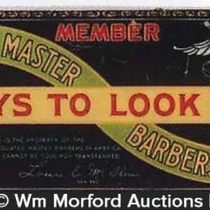Barbers Of America Celluloid Sign