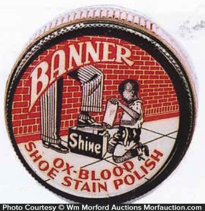 Banner Shoe Polish Tin