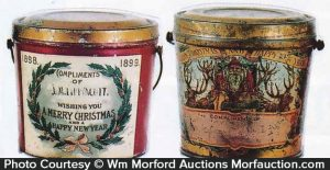 Antique advertising vintage christmas pails antique for Christmas tin pails
