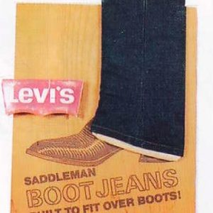 Levi's Boot Jeans Sign