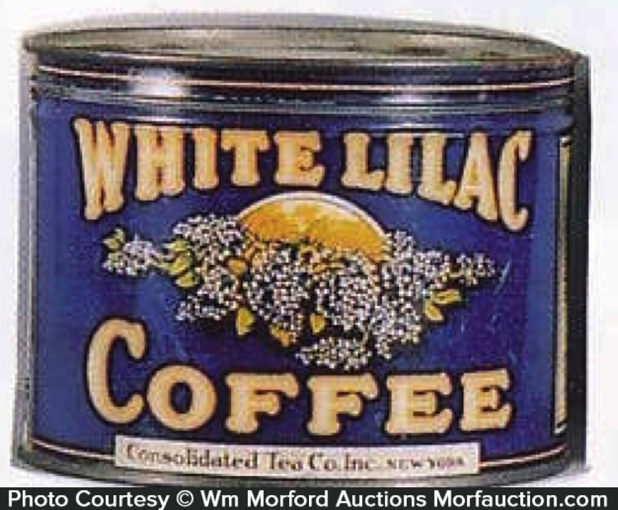 White Lilac Coffee Can