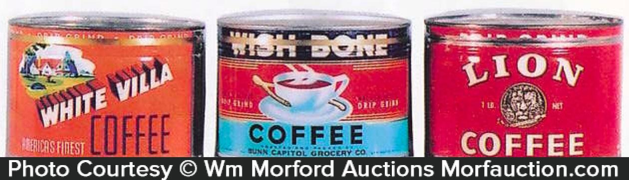 Vintage Key Wind Coffee Cans