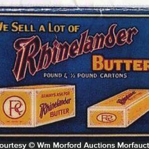 Rhinelander Butter Sign