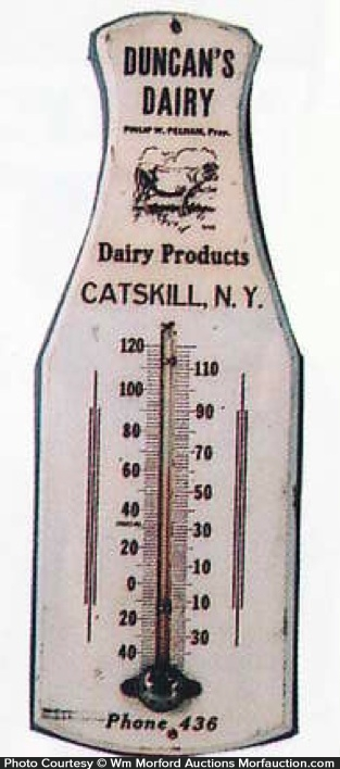 Duncan's Diary Milk Bottle Thermometer