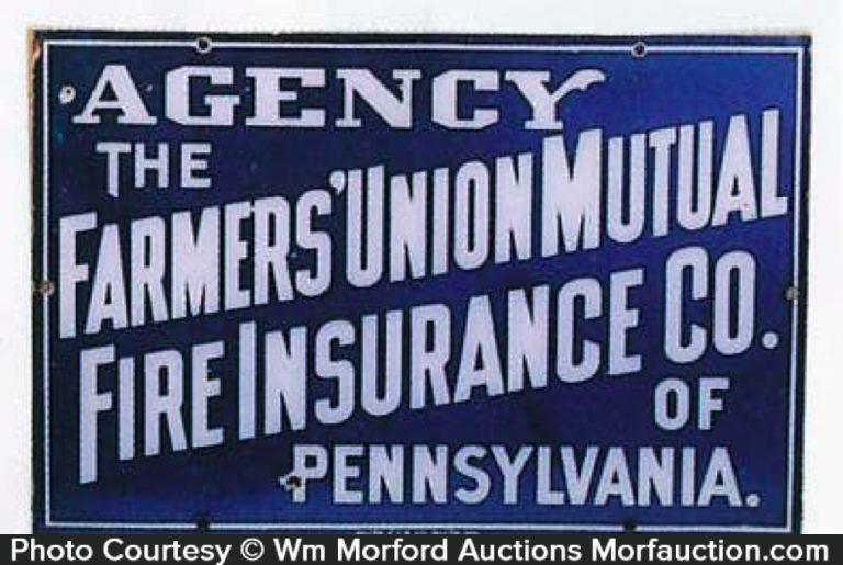 Farmers Fire Insurance Sign