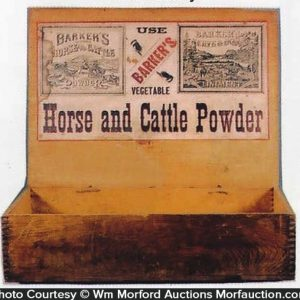 Barker's Horse and Cattle Powder Box