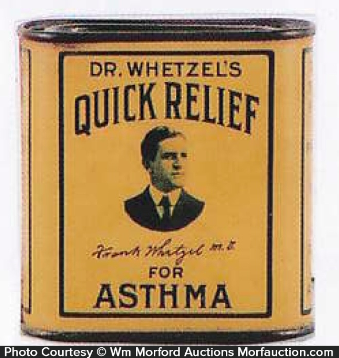 Dr. Whetzel's Asthma Relief Tin