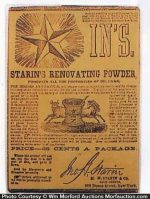 Starin's Renovating Powder Package