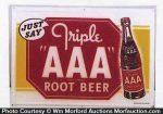 Triple Aaa Root Beer Sign