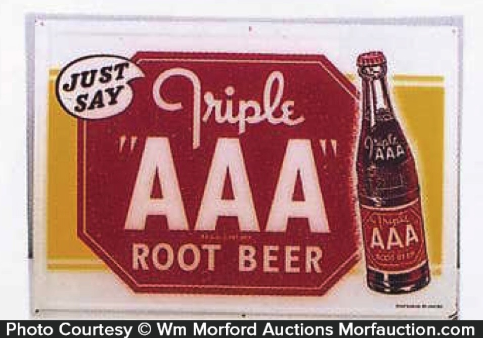 Triple Aaa Root Beer Sign