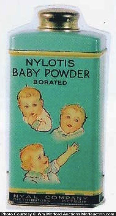 Nylotis Baby Powder Tin