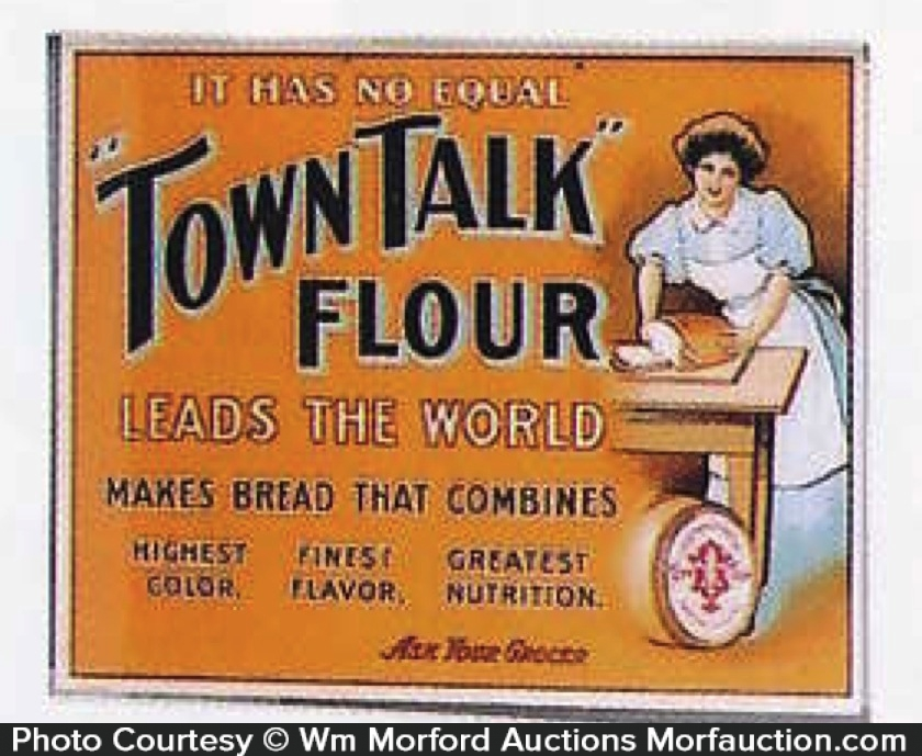 Town Talk Flour Sign