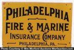 Philadelphia Fire & Marine Insurance Sign