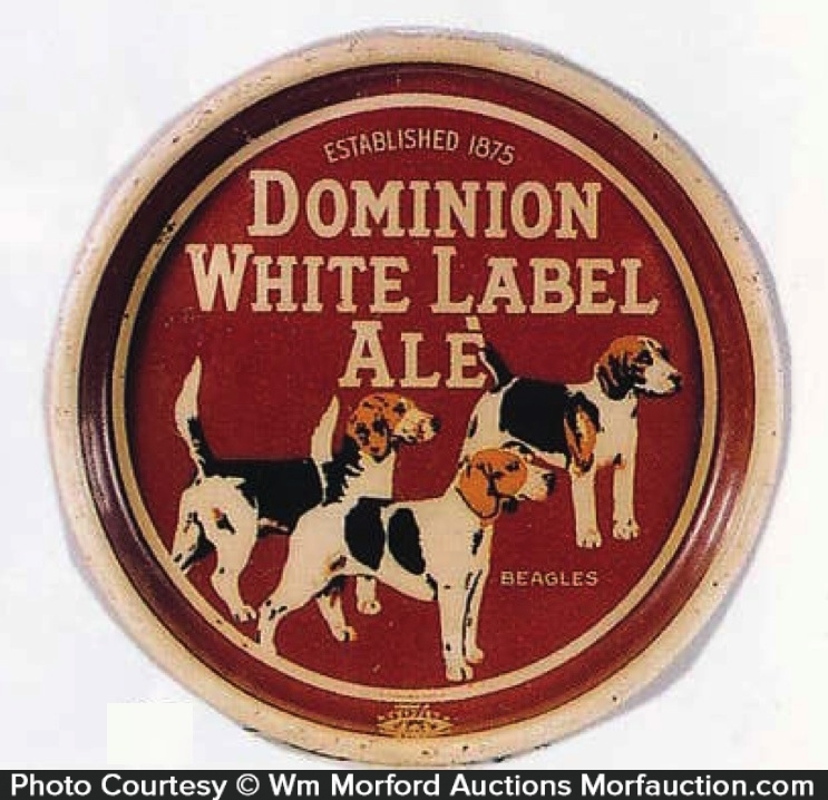 Dominion White Label Ale Tray