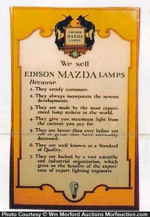 Edison Mazda Parrish Store Sign