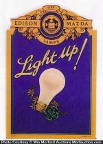 Edison Mazda Light Up Sign