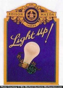 Edison Mazda Light Up Sign