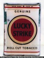 White Lucky Strike Tobacco Tin