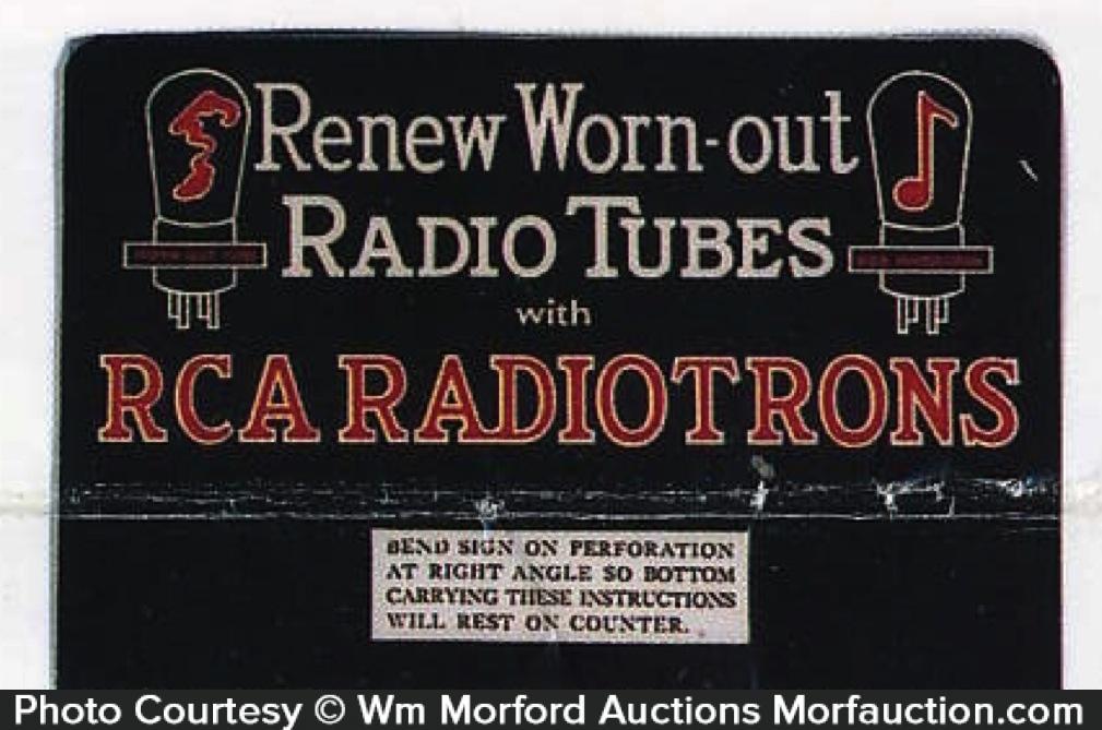 Rca Radiotrons Sign