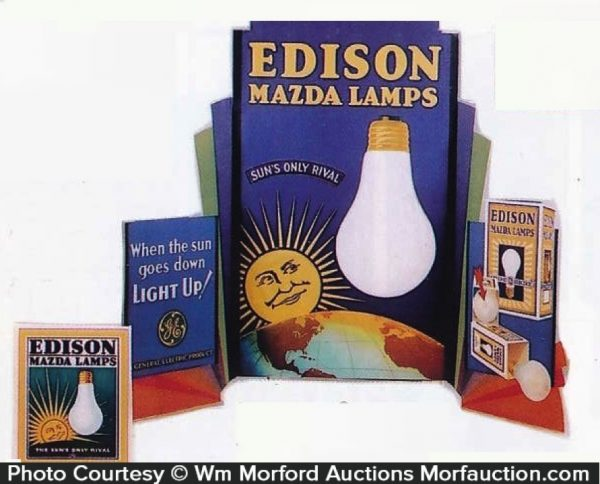 Edison Mazda Lamps Window Display