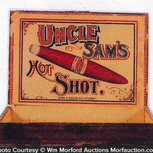 Uncle Sam's Hot Shot Cigar Box