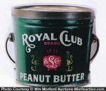 Royal Club Peanut Butter Pail