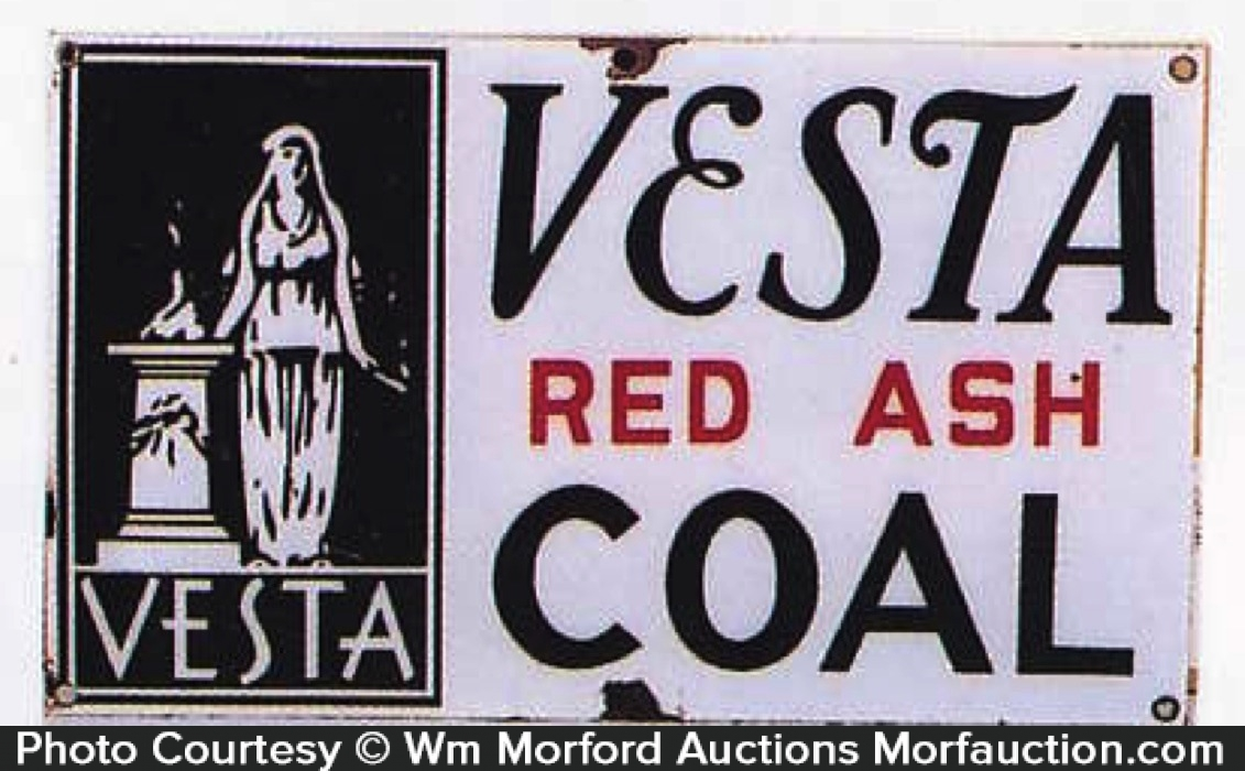 Vesta Coal Sign