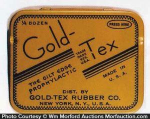 Gold-Tex Condom Tin