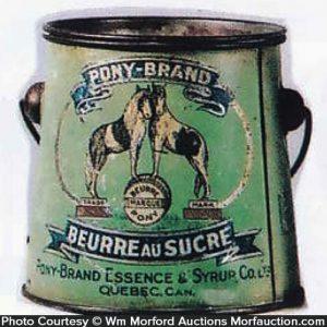 Pony Brand Sugar Butter Tin