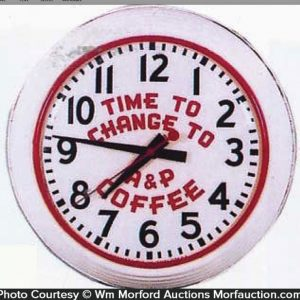 A&P Coffee Clock