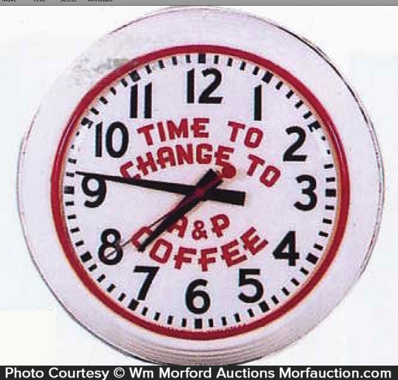 A&P Coffee Clock