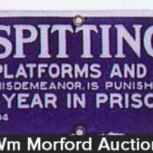 No Spitting On Platforms Sign