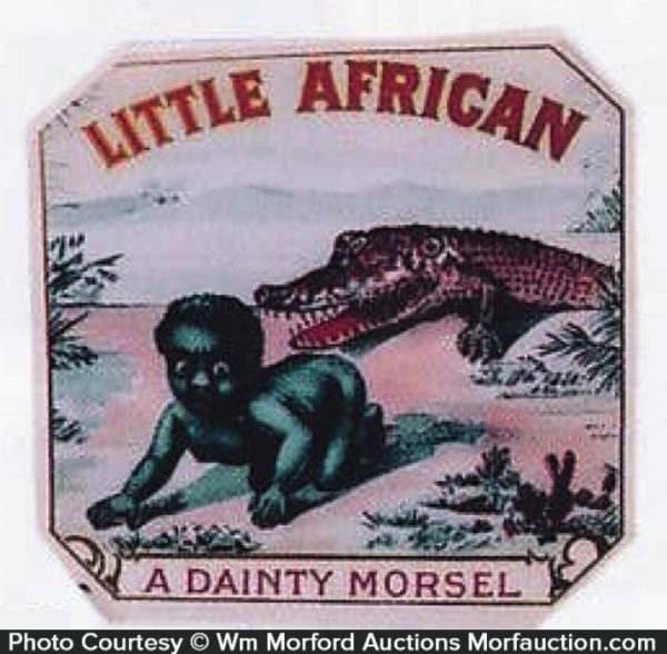 Antique Advertising Little African Cigar Box Label
