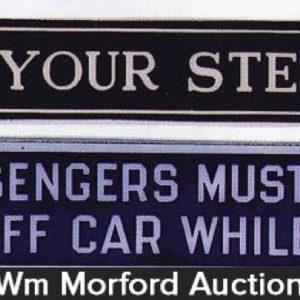 Vintage Street Car Signs