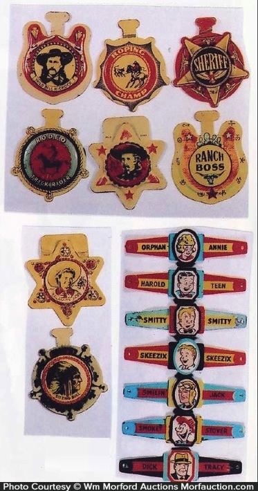 Raisin Brand Cereal Premiums Badges