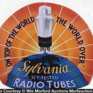 Sylvania Radio Tube Sign