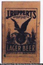 J. Ruppert's Lager Beer Sign