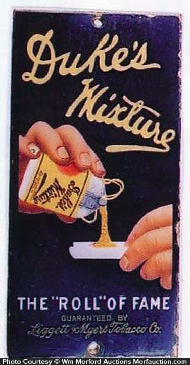 Duke's Mixture Tobacco Door Push