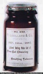 Lorillard Tobacco Jar