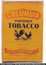 Columbia Powdered Tobacco Box