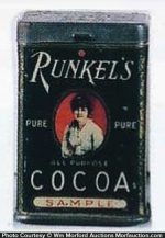 Runkel's Cocoa Sample Tin