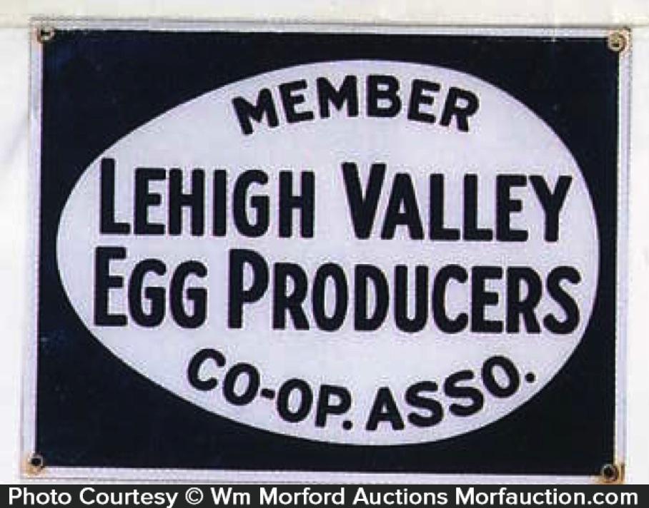 Lehigh Valley Eggs Sign