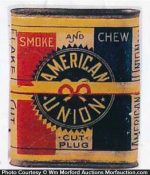 American Union Tobacco Tin