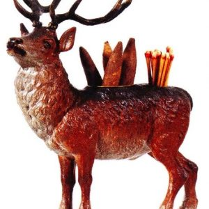 Elk Cigar and Match Holder
