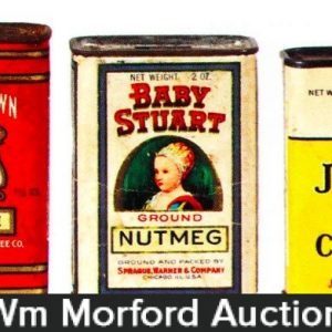 Vintage Paper Label Spice Tins