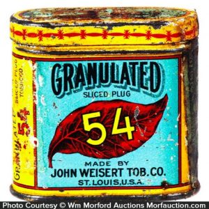 Granulated 54 Tobacco Tin Sample