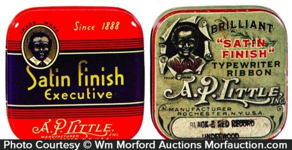 A. P. Little Typewriter Ribbon Tins